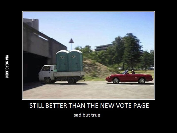 Still better than the new vote p.