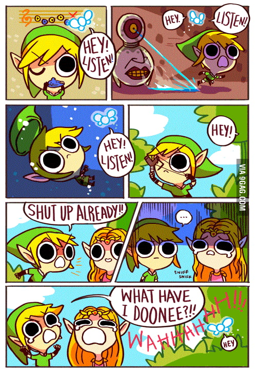 Maybe Link was getting annoyed