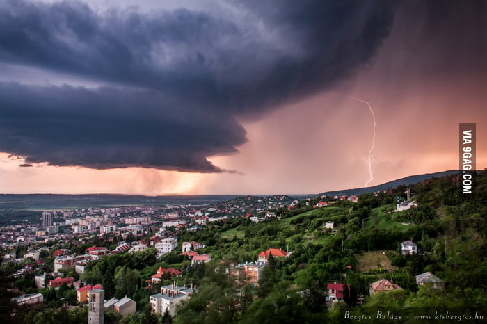 Real Storm, Real Photo (Hungary, Pécs)