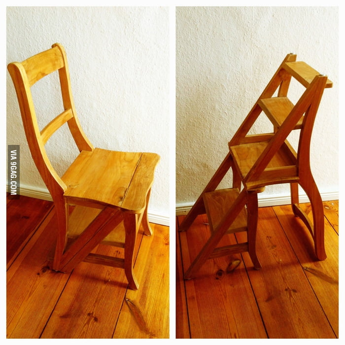 This chair is a stepledder. Awesome!