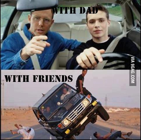 Driving my car...