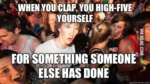 When you clap...
