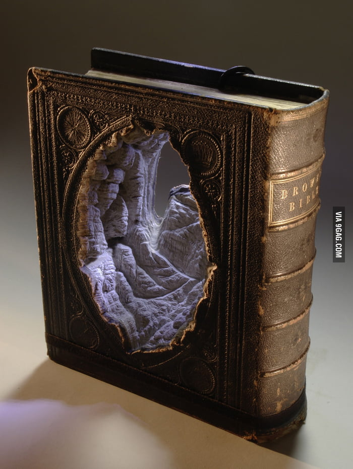 Carved Book Art