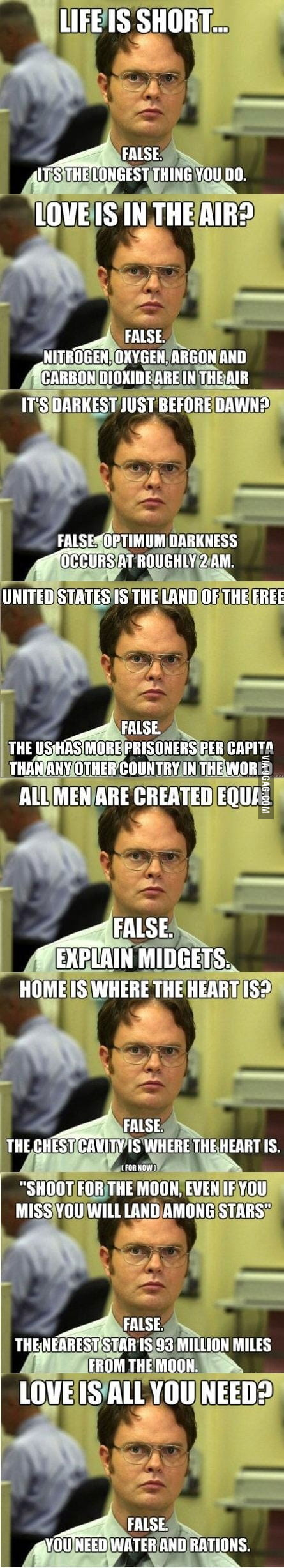Best of nerd corrections (aka Dwight Schrute)