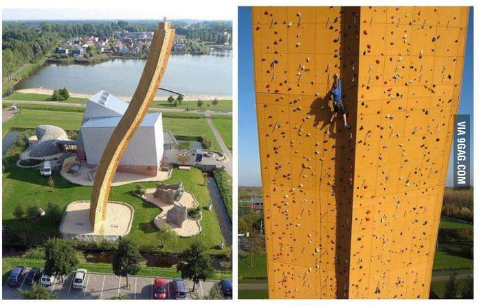 Now THIS is a climbing wall