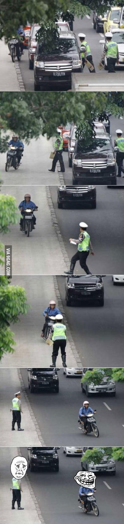 U mad police???