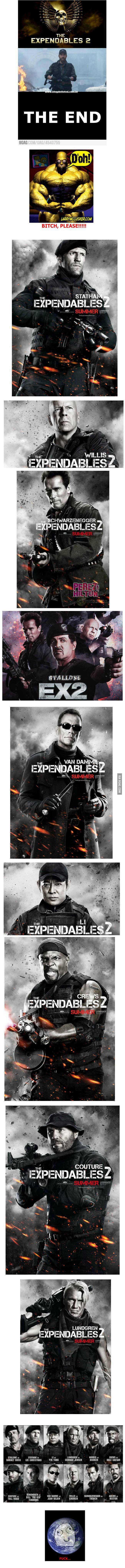 The Expendables 2 Cast...