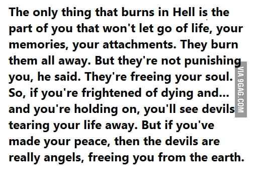 A beautiful perspective of hell..