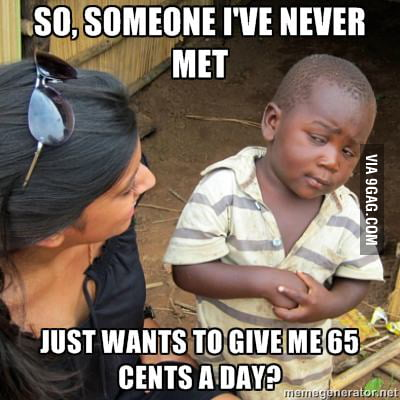 65 cents a day?