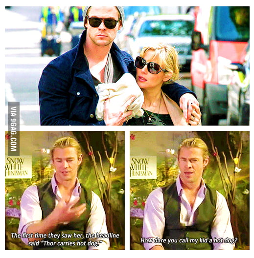 Thor carries hot dog
