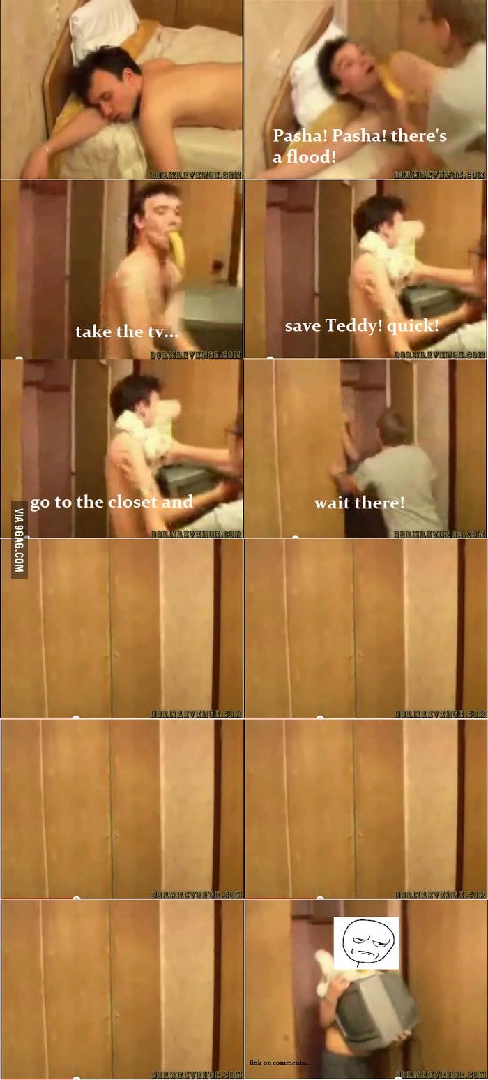 Genius Russian wake-up prank