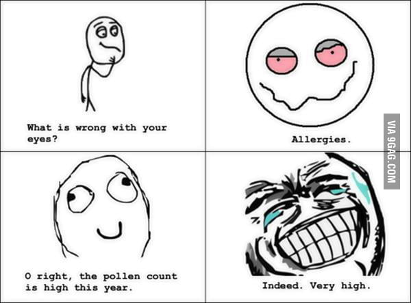 Yeah sure allergies