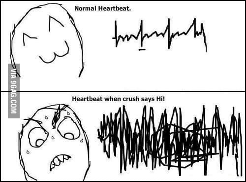My hearbeat when I see my crush