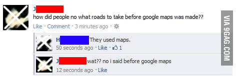 How did people no what roads to take before google maps was
