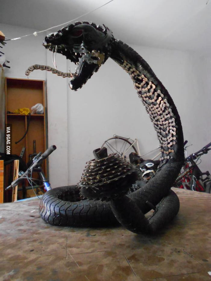 Just a snake I made with my bikes useless parts