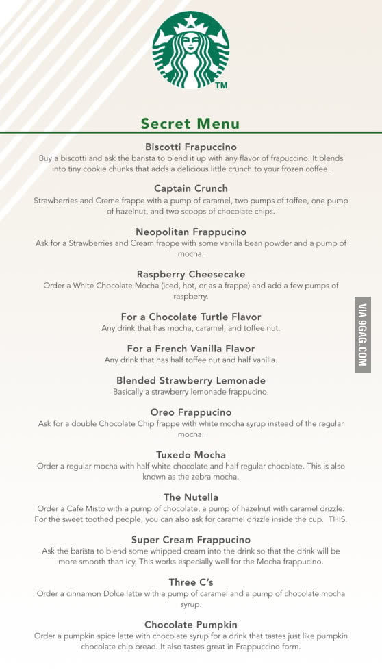The Secret Menu At Starbucks
