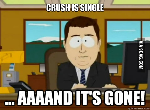Crush is single