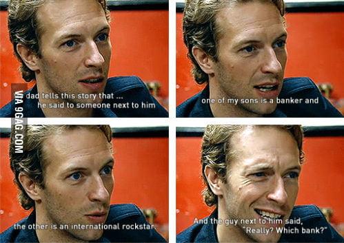 He's Coldplay's singer BTW.