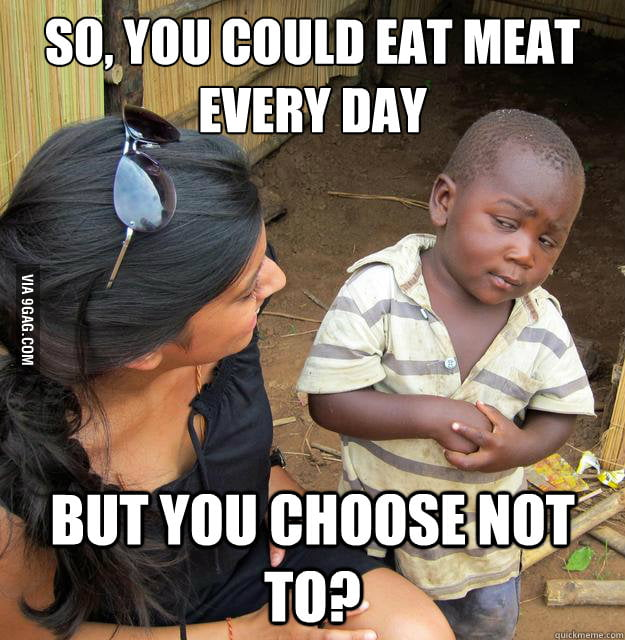 As a vegetarian, I wouldn't know how to respond.