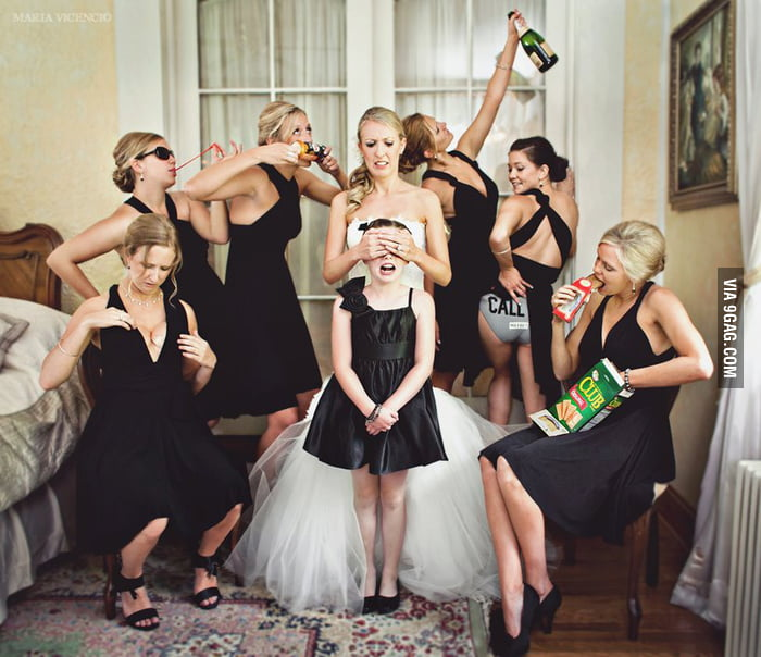 Sometimes you just need to let loose on the wedding day