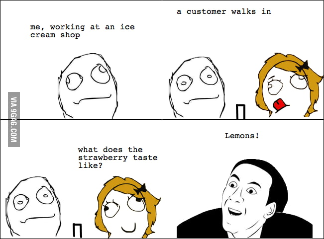 Working at an ice cream shop