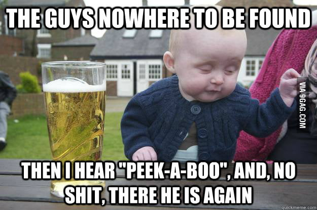 Drunk Baby plays a game