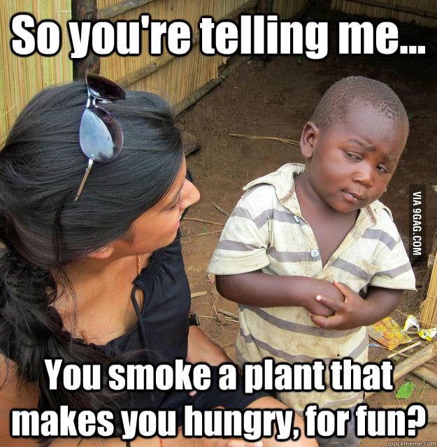 3rd World Skeptical Child on pot