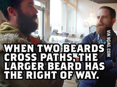 When two beards cross paths...