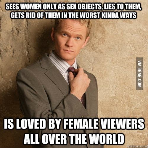 I admire Barney Stinson but this is something I don't get