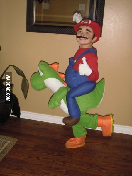 Great Mario and Yoshi costume