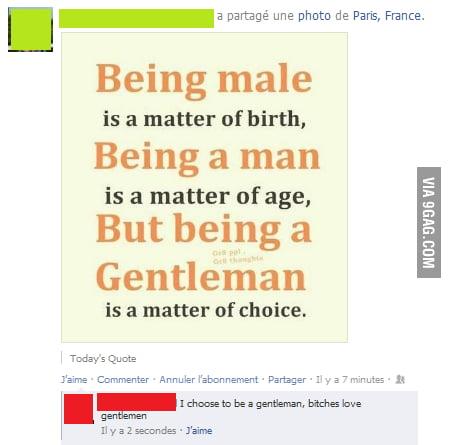 Gentlemen, nowadays