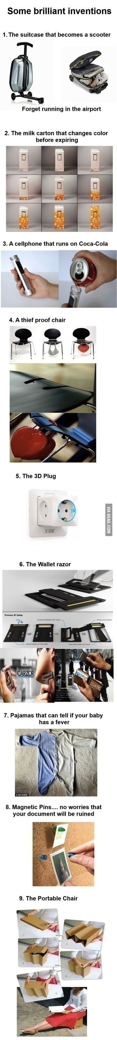 Some brilliant inventions