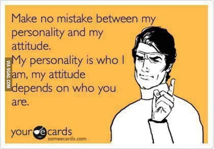 Personality vs Acttitude