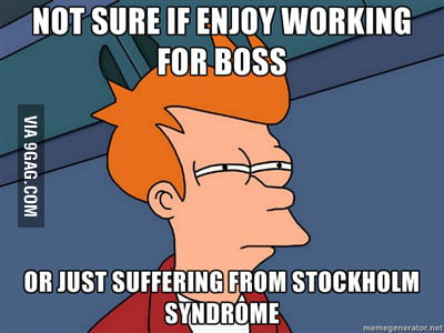 Futurama Fry on working for a horrible boss for 3 years