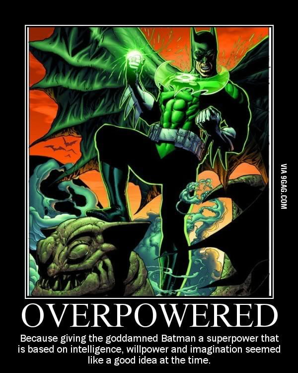 Overpowered Batman is Overpowered