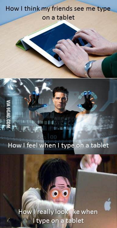 Tablet typing