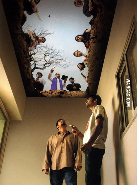 Awesome ceiling of a smokers room