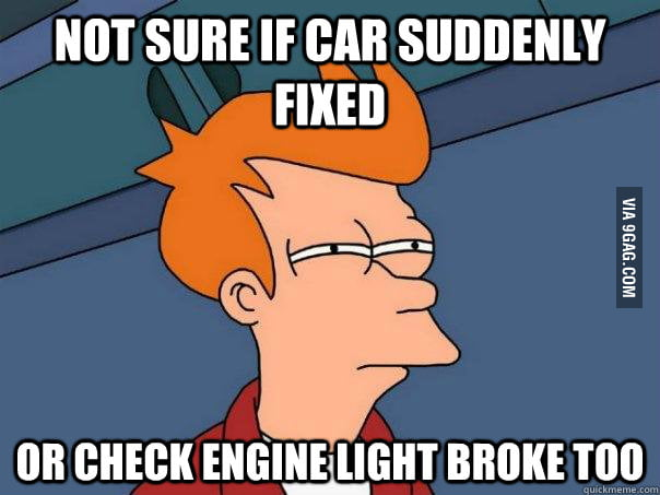 My check engine light turned off today...