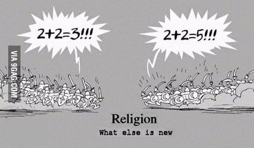 When religious people argue...