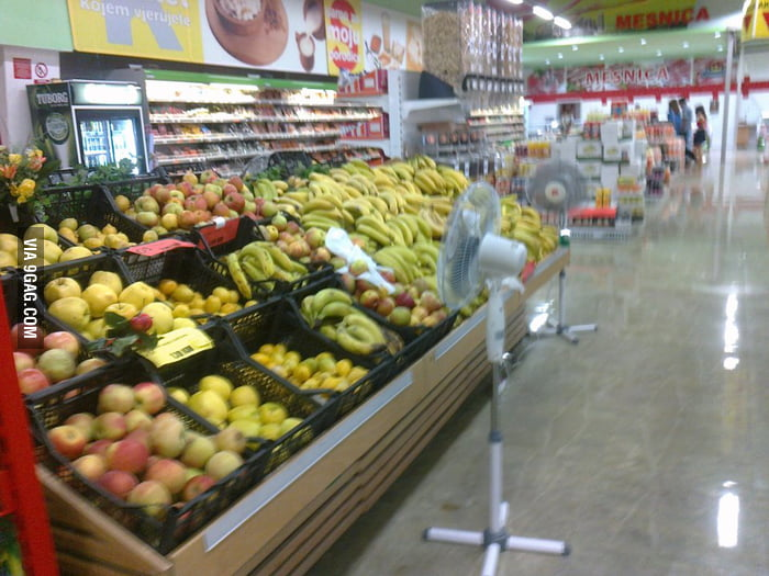 Proffesional fruit coolers in Bosnian supermarkets