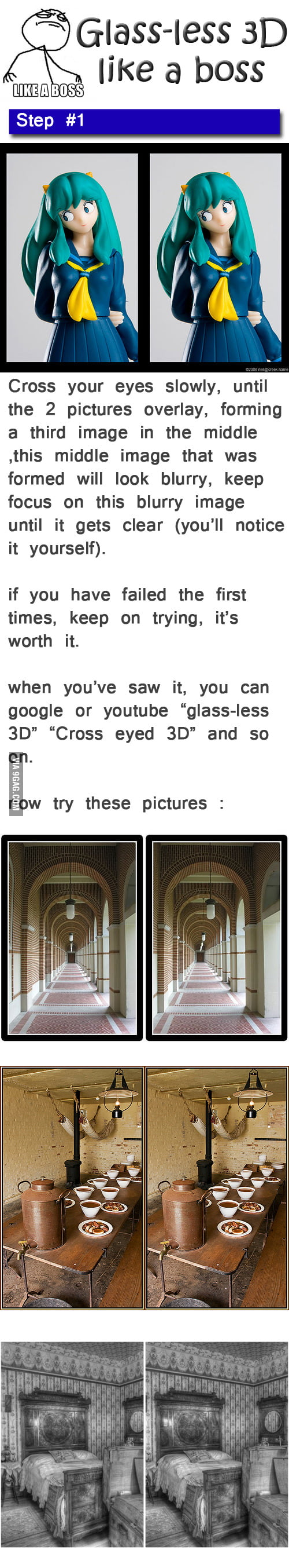Glass-less 3D like a boss...