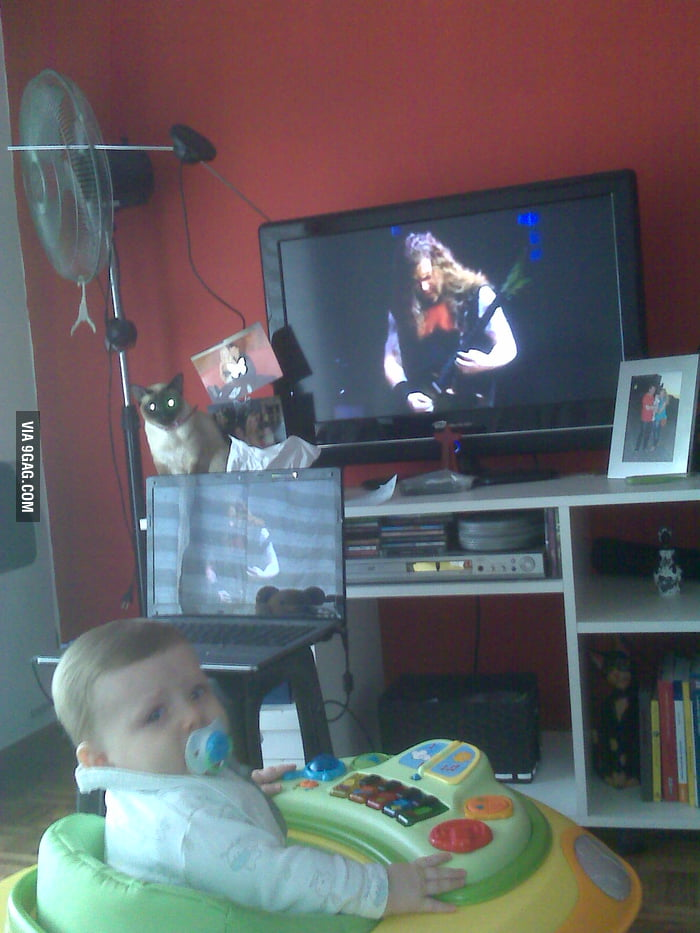 Metalhead Dad educates baby