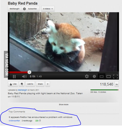 Oh, youtube…