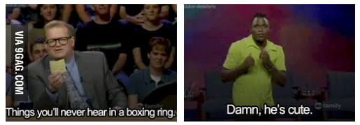 Things you will never hear in a boxing ring