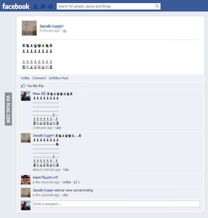 Chess level: Facebook