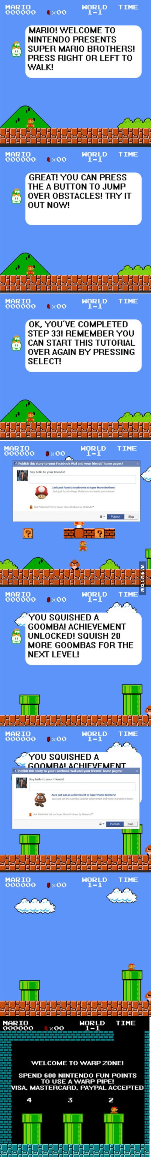 If the Mario game was to be created today: