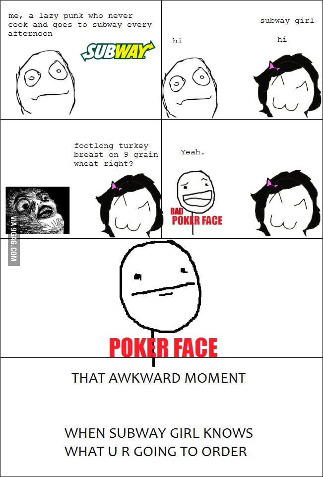 That awkward moment.......