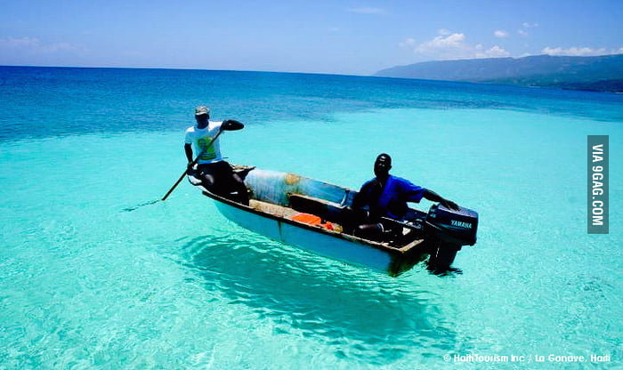 Clear blue waters of Haiti