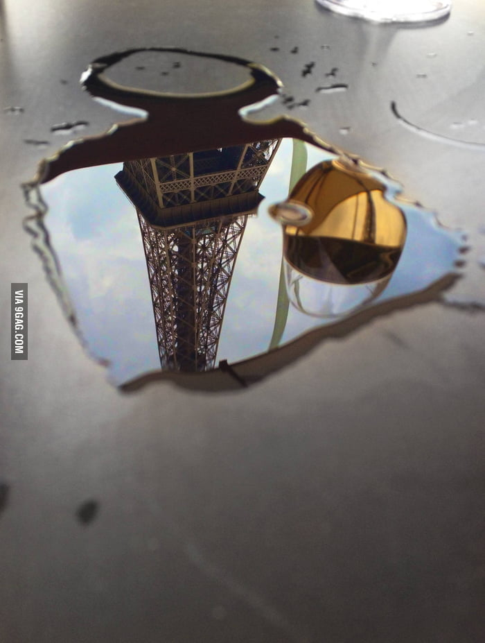 Spilt some wine next to the Eiffel Tower