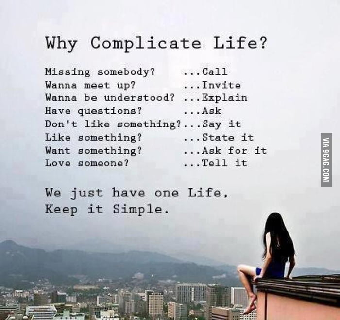 Just Keep it Simple.